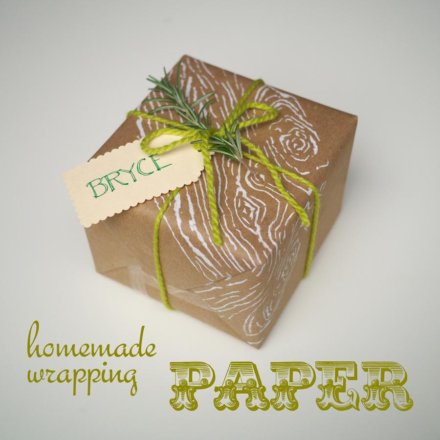 Homemade Wrapping Paper Homemade Wrapping Paper