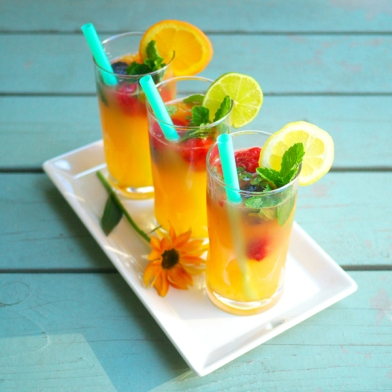 Fruit Cube Mocktails