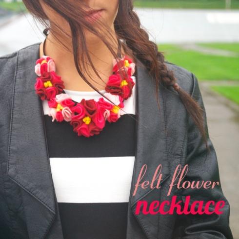 Felt Flower Necklace Header